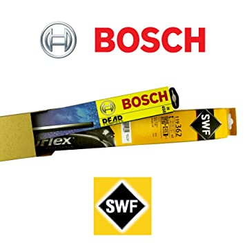 SWF 119318 + Bosch a280h Juego completo original Limpiaparabrisas delantero + trasero + 2 Gomas de Repuesto + 2 T10 Lámpara: Amazon.es: Coche y moto