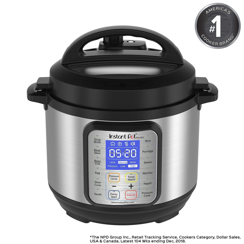 Instant Pot DUO Plus 3 Qt 9-in-1 Multi- Use Programmable Pressure Cooker, Slow Cooker, Rice Cooker, Yogurt Maker, Egg Cooker, Saut , Steamer, Warmer, and Sterilizer Renewed