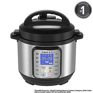Instant Pot DUO Plus 3 Qt 9-in-1 Multi- Use Programmable Pressure Cooker, Slow Cooker, Rice Cooker, Yogurt Maker, Egg Cooker, Sauté, Steamer, Warmer, and Sterilizer (Renewed)