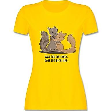 Sonstige Tiere - Beste Freunde - S - Gelb - L191 - Damen T-Shirt