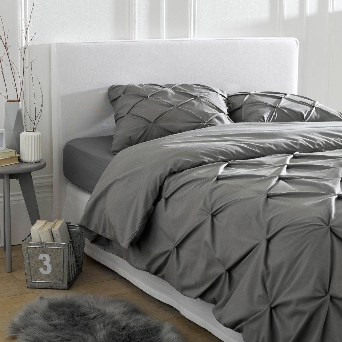 La Redoute Gatine Pure Cotton Straight Headboard Cover White Size 160 X 85 cm