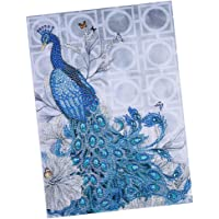 D DOLITY Special Shaped Diamond Painting with Basic Tools Peacock - DIY 5D Partial Drill Crystal Cross Stitch Kits