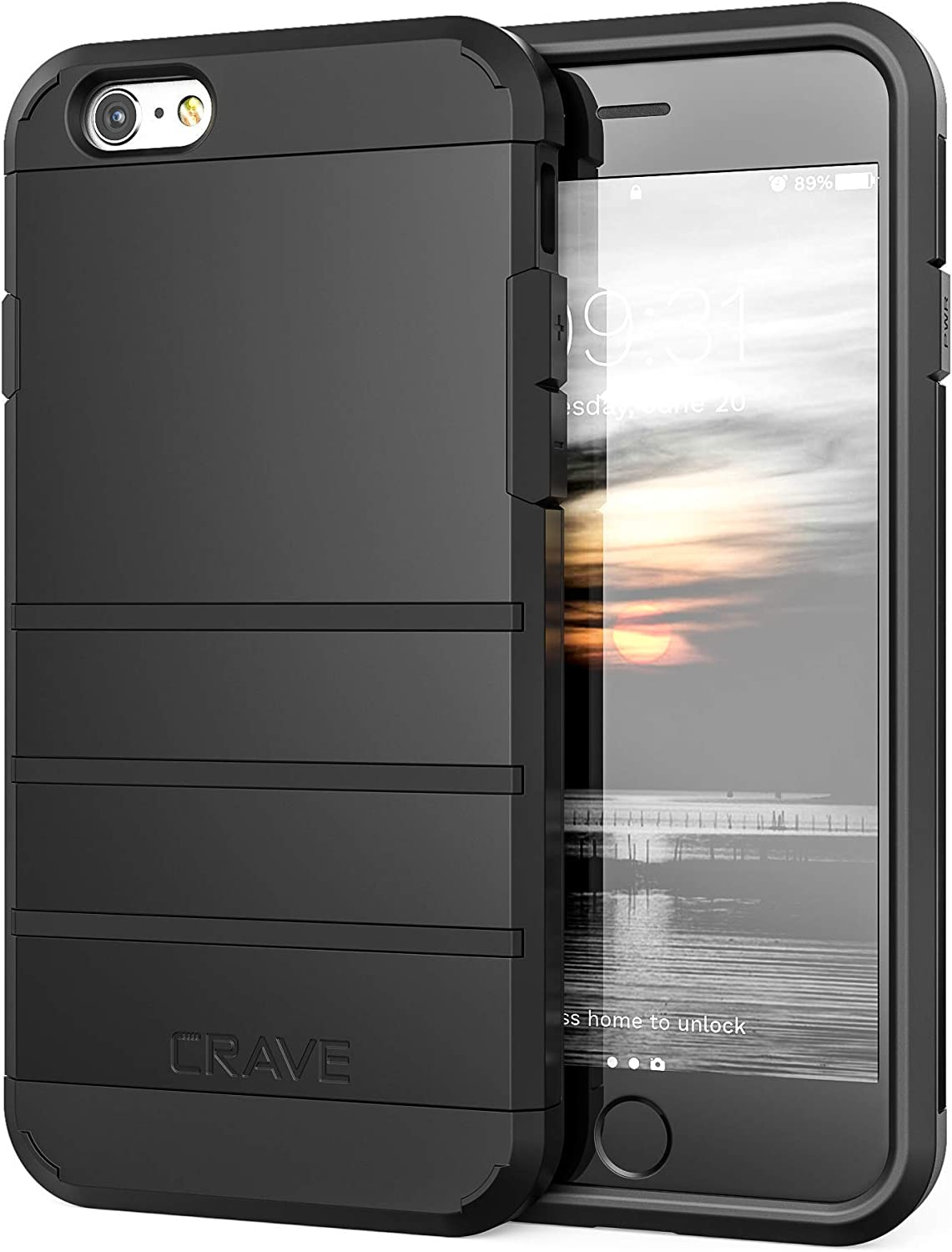 iPhone 6S Case, iPhone 6 Case, Crave Strong Guard Protection Series Case for Apple iPhone 6 6s (4.7 Inch) - Black