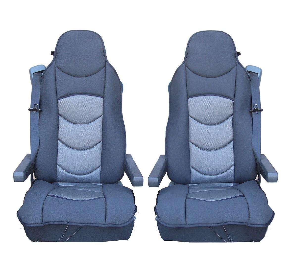 1x PREMIUM UNIVERSAL GREY COMFORT PADDED SEAT COVER CUSHIONED FOR TRUCK LORRY