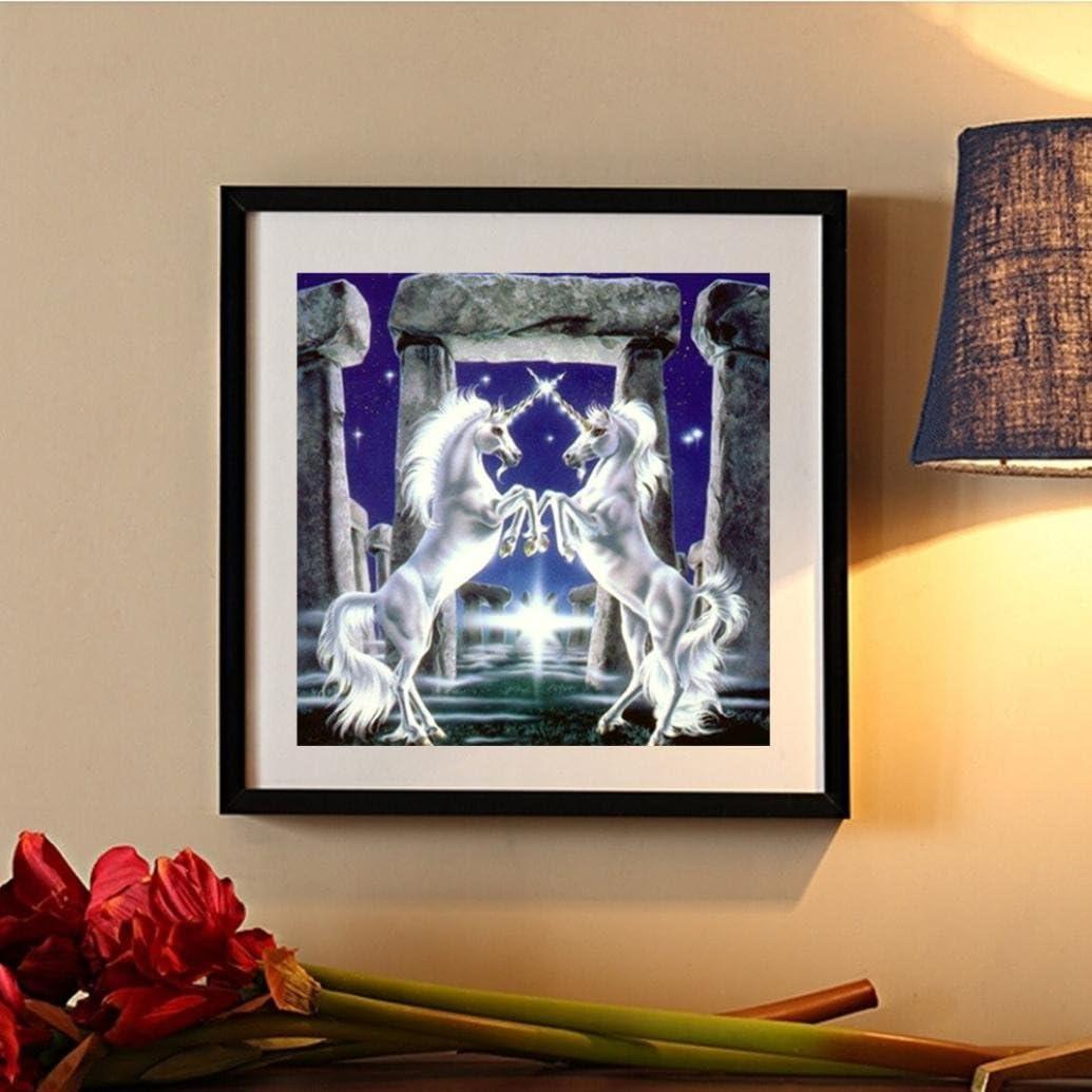 Riou DIY 5D Diamant Painting Voll,Stickerei Malerei Crystal Strass Stickerei Bilder Kunst Handwerk f/ür Home Wand Decor Gem/älde Kreuzstich Kristall Pferd Bild Muster