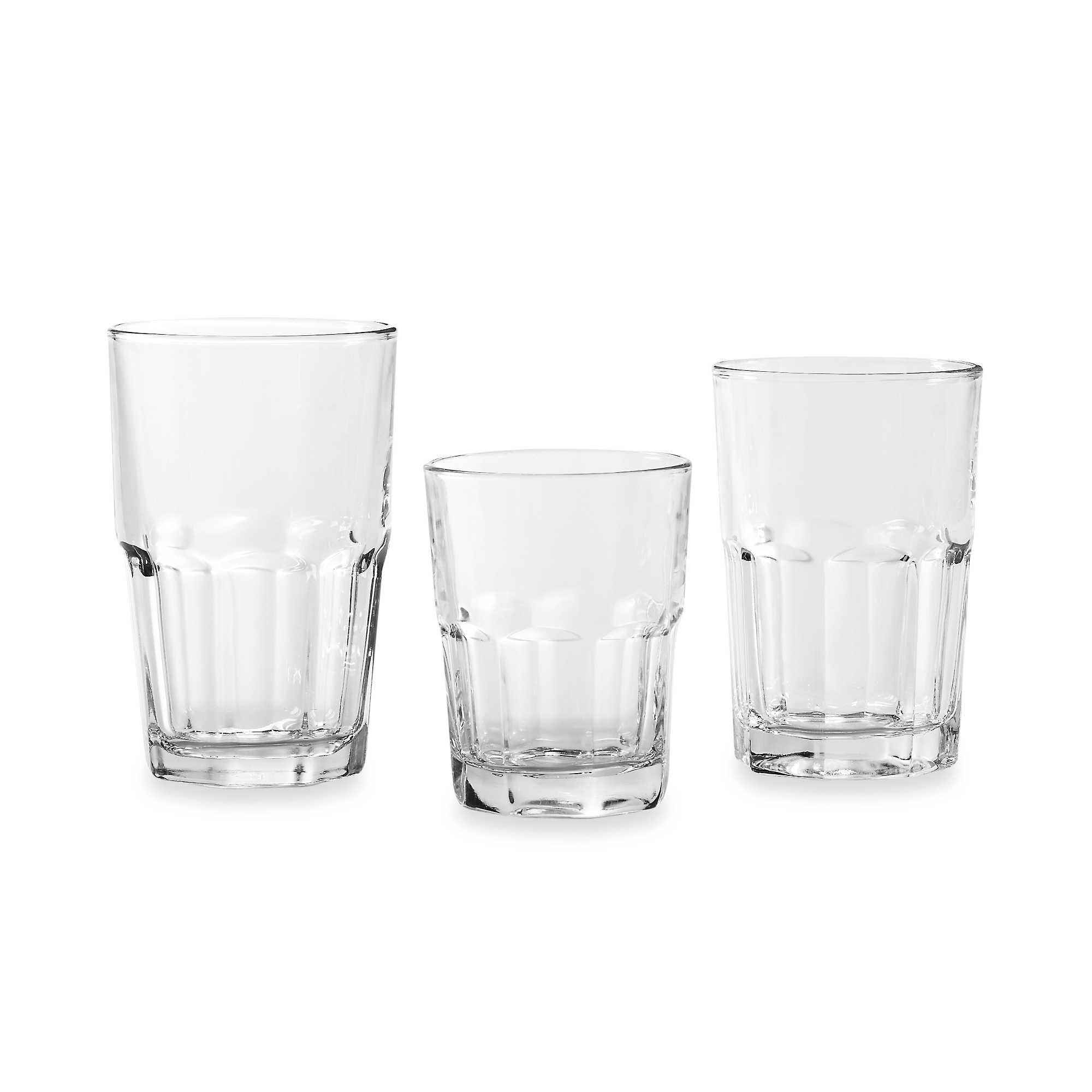 Libbey® Classic & Casual Design Crisa Boston 18-Piece Glassware Set your Everyday Drinkware