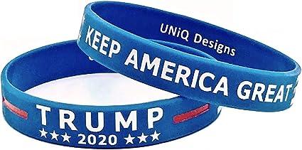 Cooluckday Trump 2020 Bracelets Silicone Wristbands Inspirational Motivational Bangle 25 Pcs