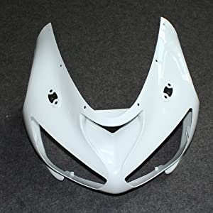 ZXMOTO Motorcycle Front Upper nose fairing for KAWASAKI Ninja 636 ZX-6R 2005 2006 (Unpainted, ABS Injection)