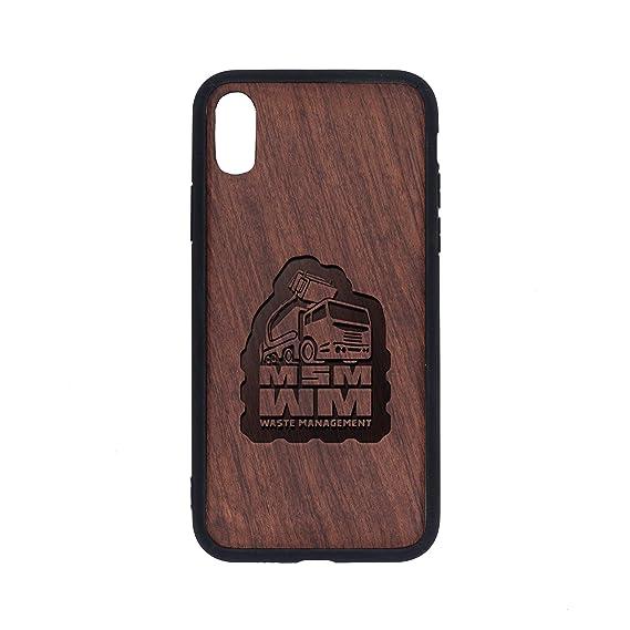 Amazon com: msm-Waste-Management-PVC - iPhone Xs Case - Rosewood