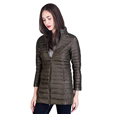 a558cd3925ee Sunfan Women s Winter Packable Ultra Light Long Down Jacket Lightweight  Waterproof Ladies Down Puffer Jacket Coat