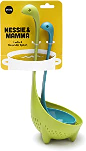Nessie Ladle Turquoise & Mamma Nessie Green Colander Special Edition Value Pack by OTOTO
