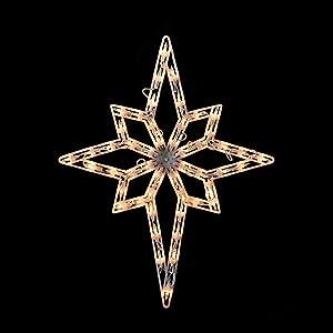 "Northlight 20"" Lighted Star of Bethlehem Christmas Window Silhouette Decoration"