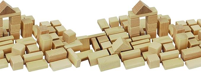 HEROS 100050131 Mattoncini in Legno Confezione da 50