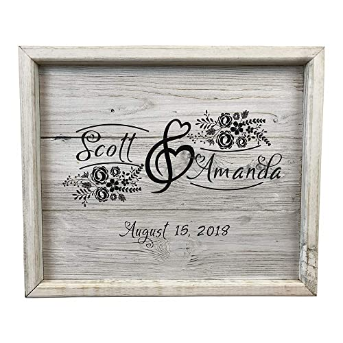 Amazon.com: Big Day Personalized Monogram Framed Wood Wedding Wall ...