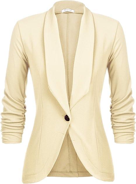 UNibelle Blazer Donna Elegante Casual Giacche da Abito Slim Fit Manica 3//4 S-XXL
