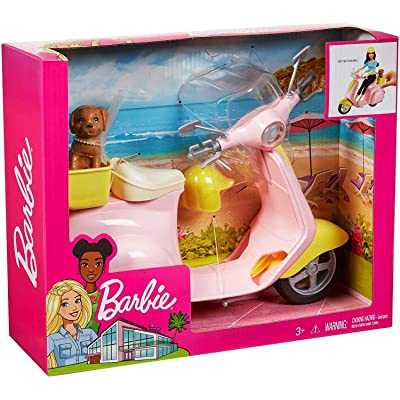 Barbie Moped Scooter with Puppy: Toys & Games