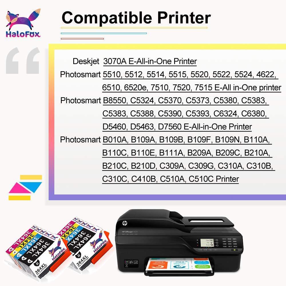 HaloFox Cartuchos de Tinta Compatible para HP 364XL para HP ...