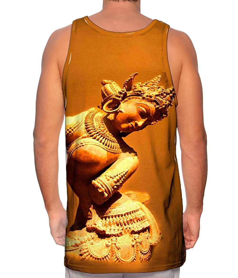 Mens Tank Top Indian Art TShirt Statue Fertility God Yizzam
