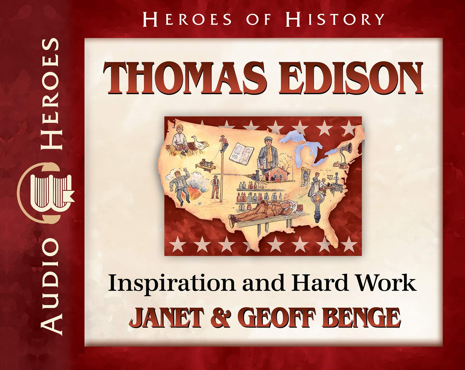 Download Thomas Edison Audiobook: Inspiration and Hard Work (Heroes of History) pdf