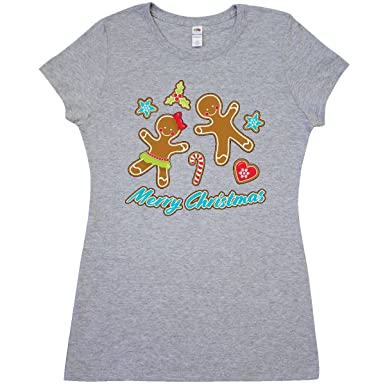 acb000e6e Inktastic - Merry Christmas with Junior Fit T-Shirt Small Athletic Heather