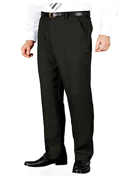 Mens Quality Formal Smart Casual Work Trousers Home/Office: Amazon ...
