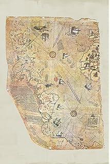 Amazon piri reis 1513 historical world map poster 12x18 inch piri reis 1513 historical world map poster 24x36 inch gumiabroncs Choice Image