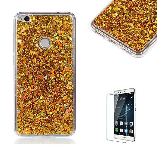 4 opinioni per Funyye Custodia per Huawei P8 Lite 2017 Cover Silicone Brillantini Glitter