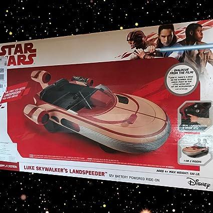 Star Wars Luke Skywalker/'s Landspeeder 12v Radio Flyer Ride On Electric Car New!