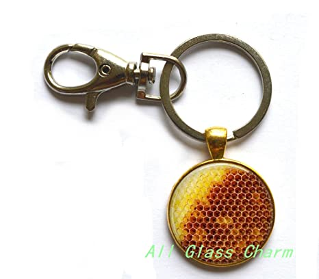Amazon.com: Encantador Llavero, panal joyas – Miel de abeja ...