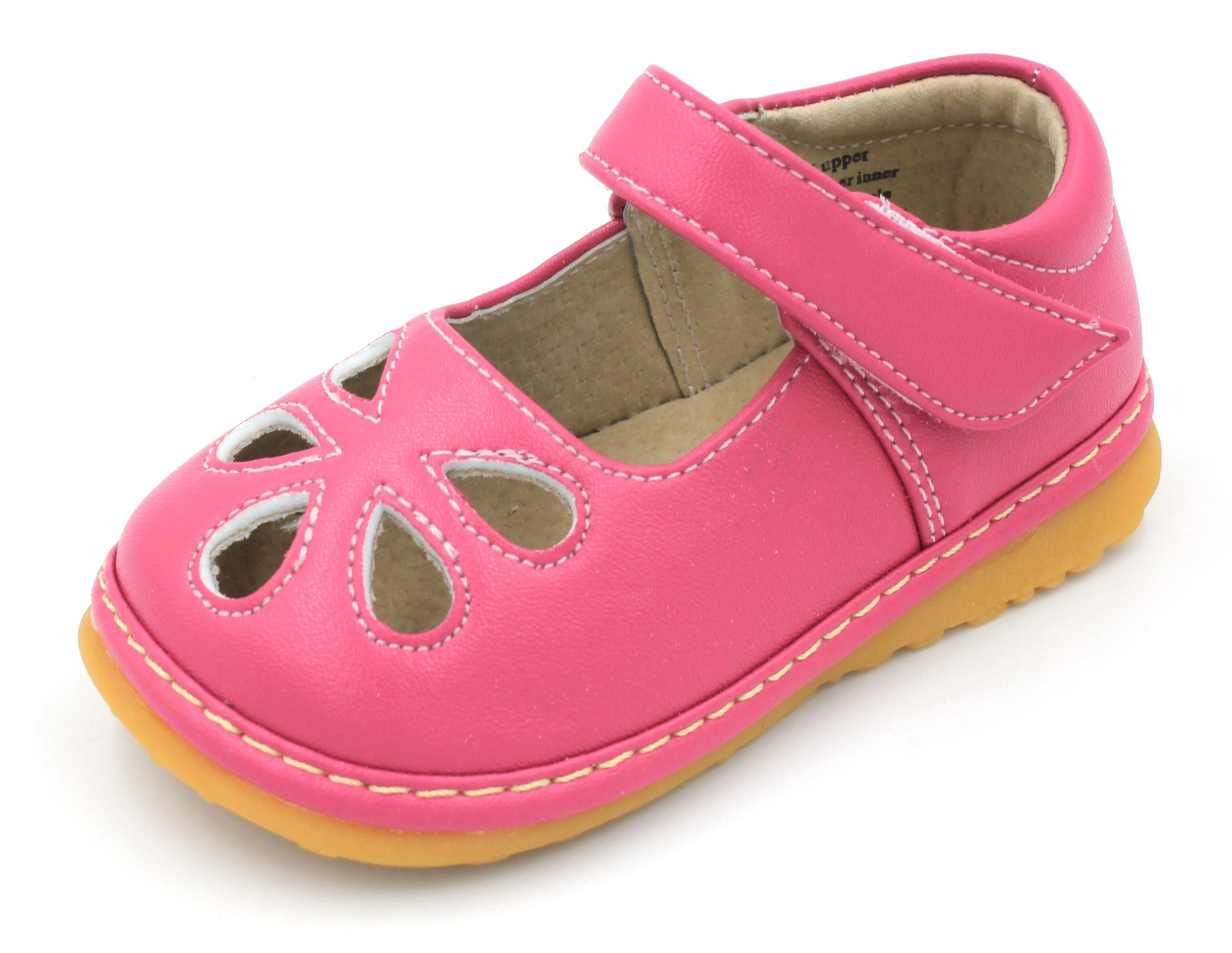 Ideal Toddler Walking Shoes with Removable Squeaker and Adjustable Strap Flexible Sole Baby Shoes Little Maes Boutique Mary Jane Sparkle Squeaky Shoes for Toddler Girls