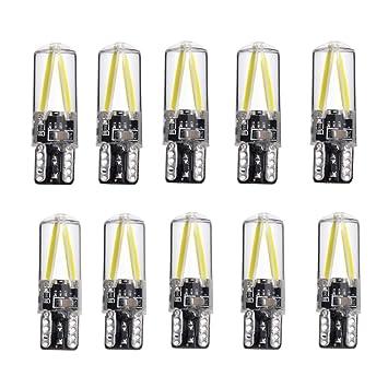 Midore T10 W5W Coche Bombilla LED con CANBUS Auto Luz de posición Blanco 6000 K Iluminación de Repuesto: Amazon.es: Coche y moto
