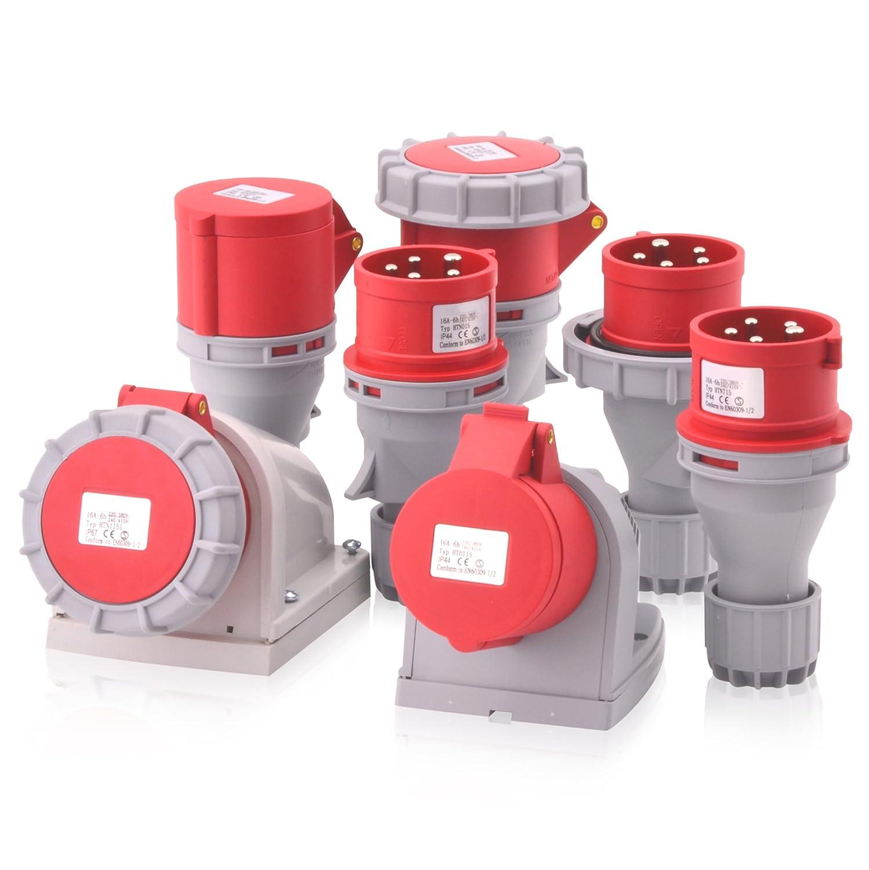 3P + N + E Connecteur courant fort intratec CEE 16/A 400/V 6H IP67/ /étanche 5/broches : Fiche IEC 60309/Industrie et de plus de phase