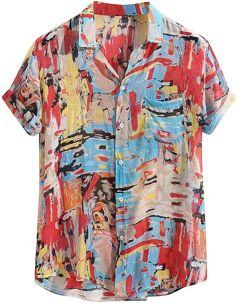 FossenHom Camisas de Hombre de Moda 2020 Camisas Hombre Fiesta Manga Corta: Amazon.es: Ropa y accesorios