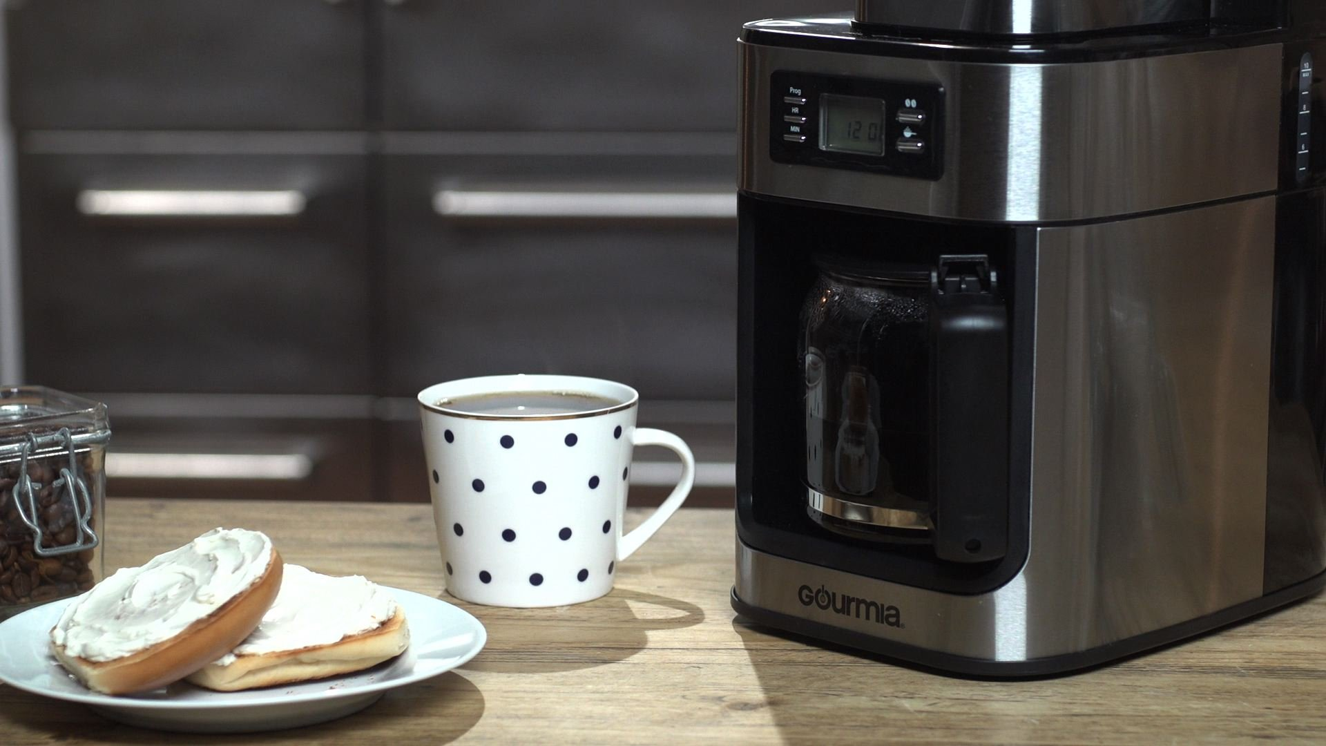 Gourmia GCM4500 Coffee Maker with Built In Coffee Grinder - Time Programmable - 10 Cup Capability - Automatic Drip - Glass Carafe - LED Display - ETL Certified by Gourmia (Image #5)