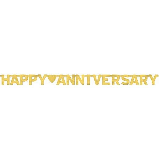 mit Aufschrift Happy Anniversary,... Amscan International Banner