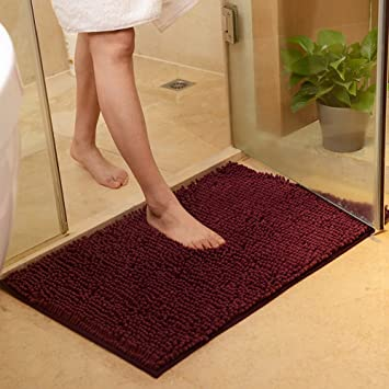Amazoncom Maxyoyo Wine Red Bath Rugs Bathroom Mats And Rugs Non