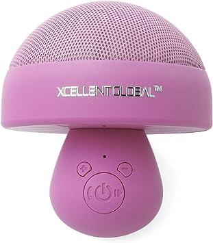 Xcellent Global Mini Parlantes Inalámbricos Bluetooth Bolsillo tipo Hongo con Micrófono Incorporado + Lámpara Nocturna Romántica Luz LED para Todos Dispositivos --Color Rosado M-PC009: Amazon.es: Electrónica