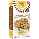 Simple Mills - Ready-to-Eat Crunchy Cookies - Chocolate Chip - 4.25 oz, Gluten Free, Grain Free, Paleo (1 Pack)