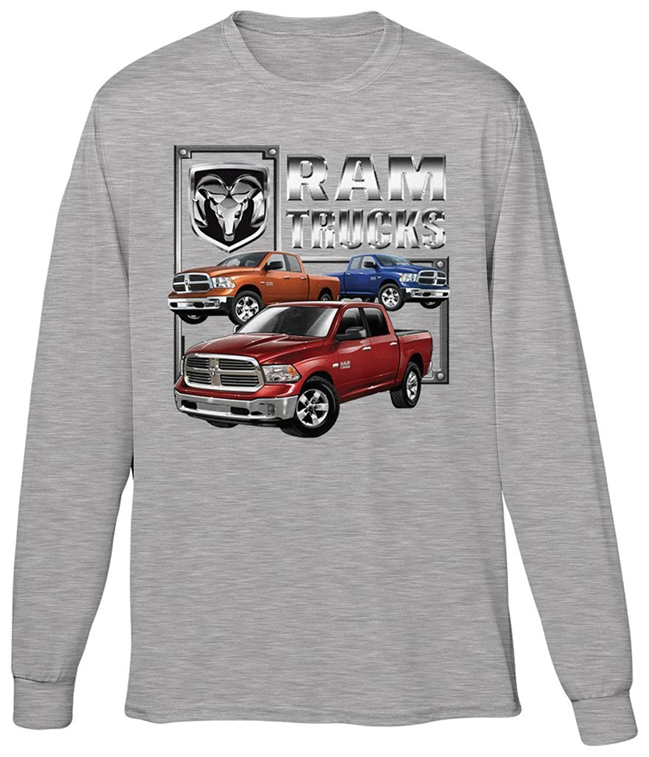 Blittzen Mens Long Sleeve T-shirt Dodge Ram Trucks