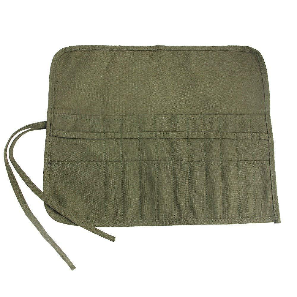 Hellohouse pennello Titolare 22/slot pennello portaoggetti per olio acrilico acquerello guazzo artista pennello rotolo di tela sacchetto verde militare