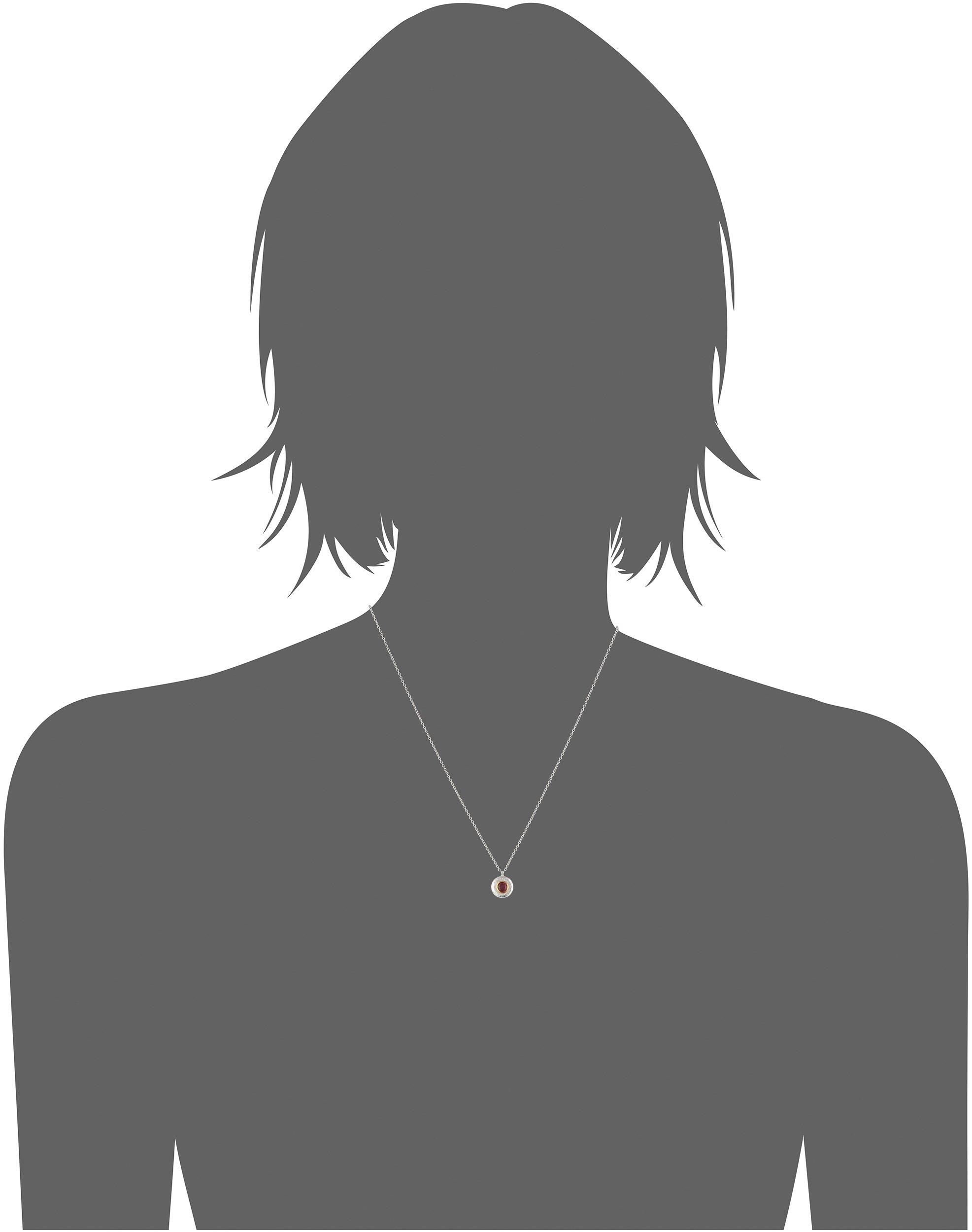 GURHAN ''Droplet'' Sterling Silver Garnet Pendant Necklace, 16'' + 2'' Extender by Gurhan (Image #2)