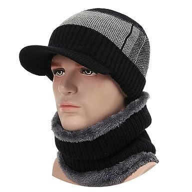 2018 Winter Cap Men Women Wool Scarf Caps Set Balaclava Mask Gorras Bonnet  Knitted Hat 45d9c97de5e2