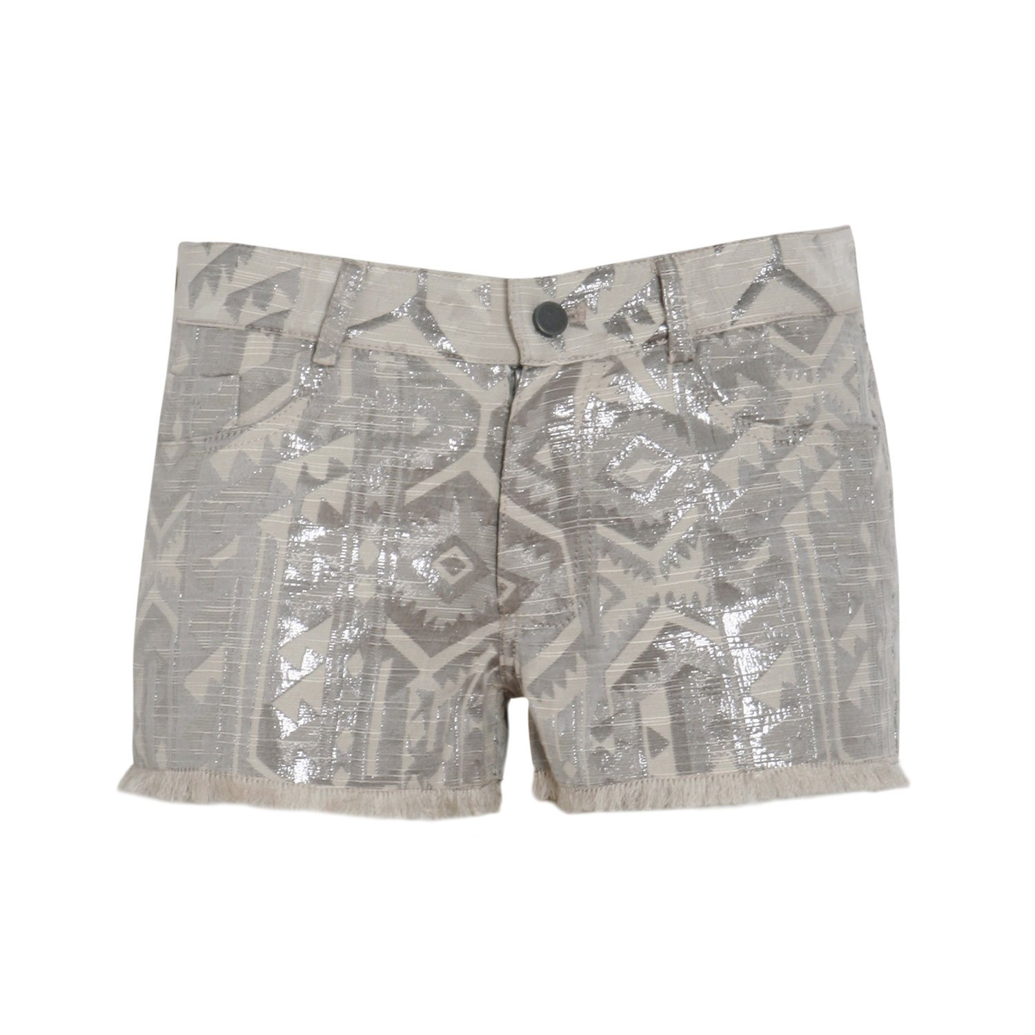 Berenice Women's The Sioux Grey Shorts With Silver Print in Size S Grey
