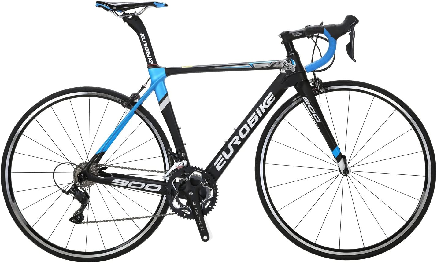 Eurobike EUR900 50CM Carbon Frame Road Bike 18 Speed 700C Racing Bicycle