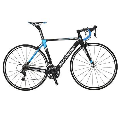 Amazon.com : EUROBIKE EU900 50CM Carbon Frame Road Bike 18 Speed ...