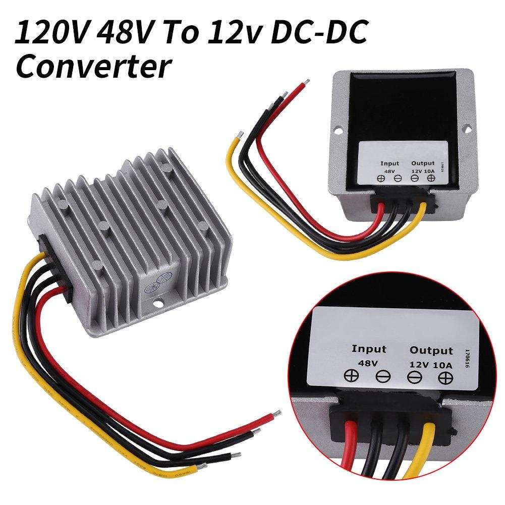 haut-parleurs convertisseur r/éducteur de tension 10A 120W pour moteurs /électriques Convertisseur affichages LED de voiture LED adaptateur de convertisseur de tension DC 48V /à 12V ventilateurs