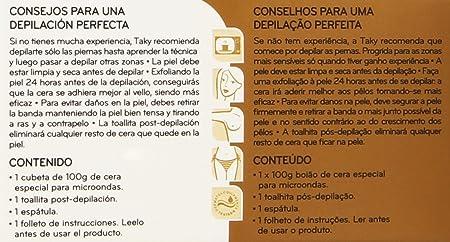 Taky Expert Oro Cera Depilatoria Especial Microondas - 100 g: Amazon.es: Amazon Pantry
