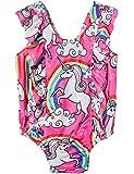 Funnycokid Neonata Costume Intero Swimsuit Floreale Costumi da Bagno 0-3 Anni