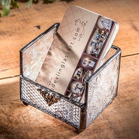 Amazon j devlin crd 105 glass business card holder for j devlin crd 105 glass business card holder for vertical business cards gift colourmoves