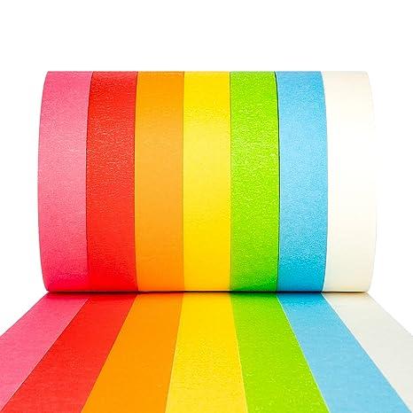 Amazon.com: Juego de 7 cinta adhesiva de colores para ...
